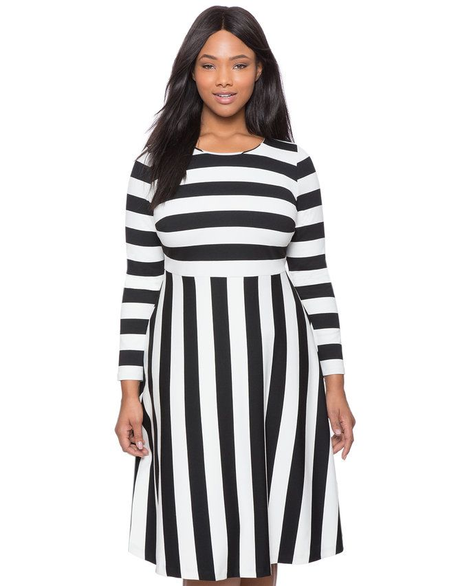 Opposing Stripes Fit and Flare Dress | Stitchfix | Dresses ...
