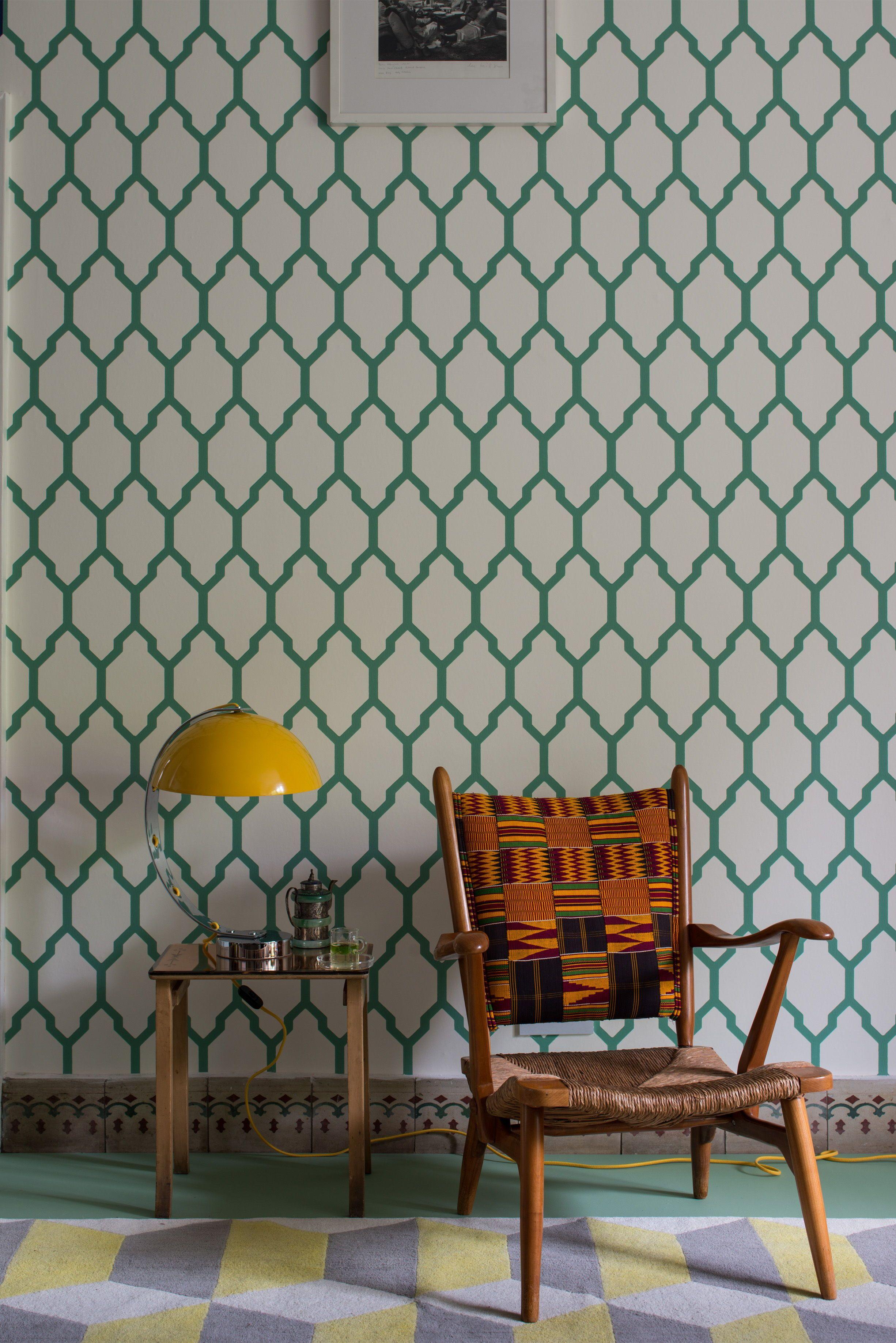 Tessella by Farrow & Ball - Green - Wallpaper - BP 3603 in ...