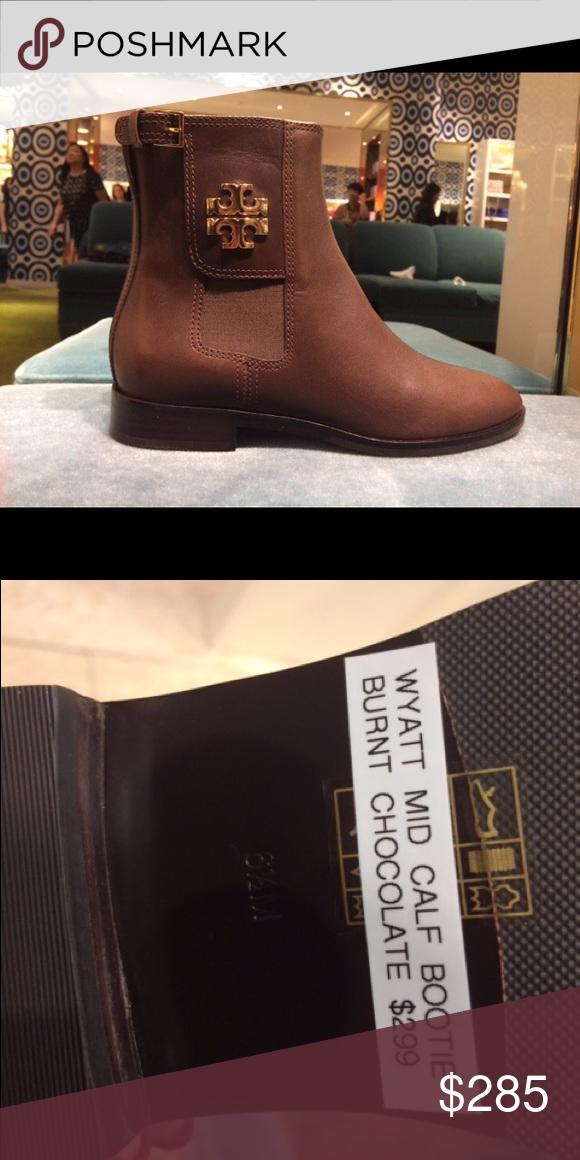 b0dd5d6dac50d3 NWB Tory Burch Wyatt bootie chocolate size 8