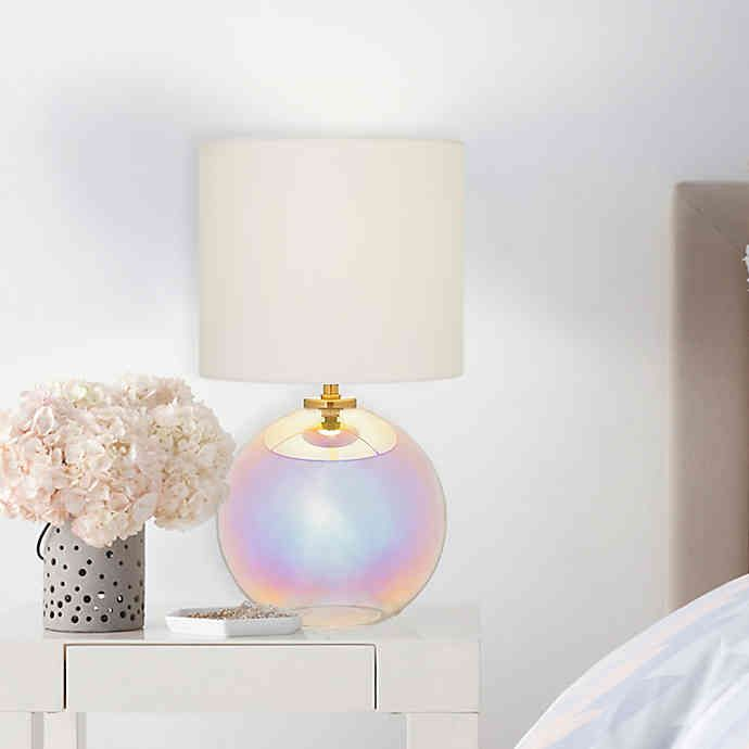Led Table Lamp With Fabric Shade