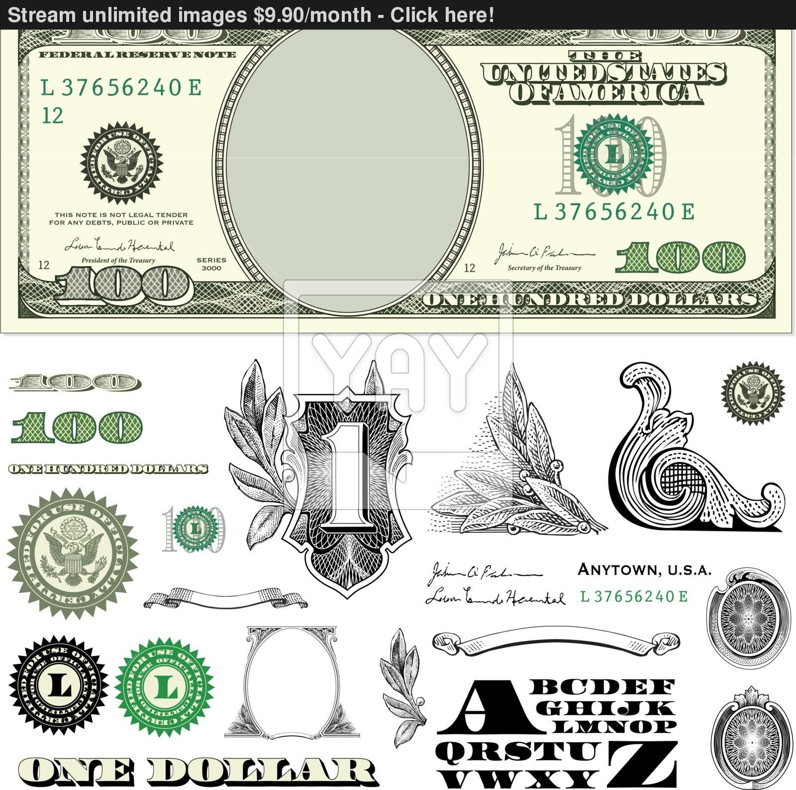 100 dollar bill template money gifts bill template ideas