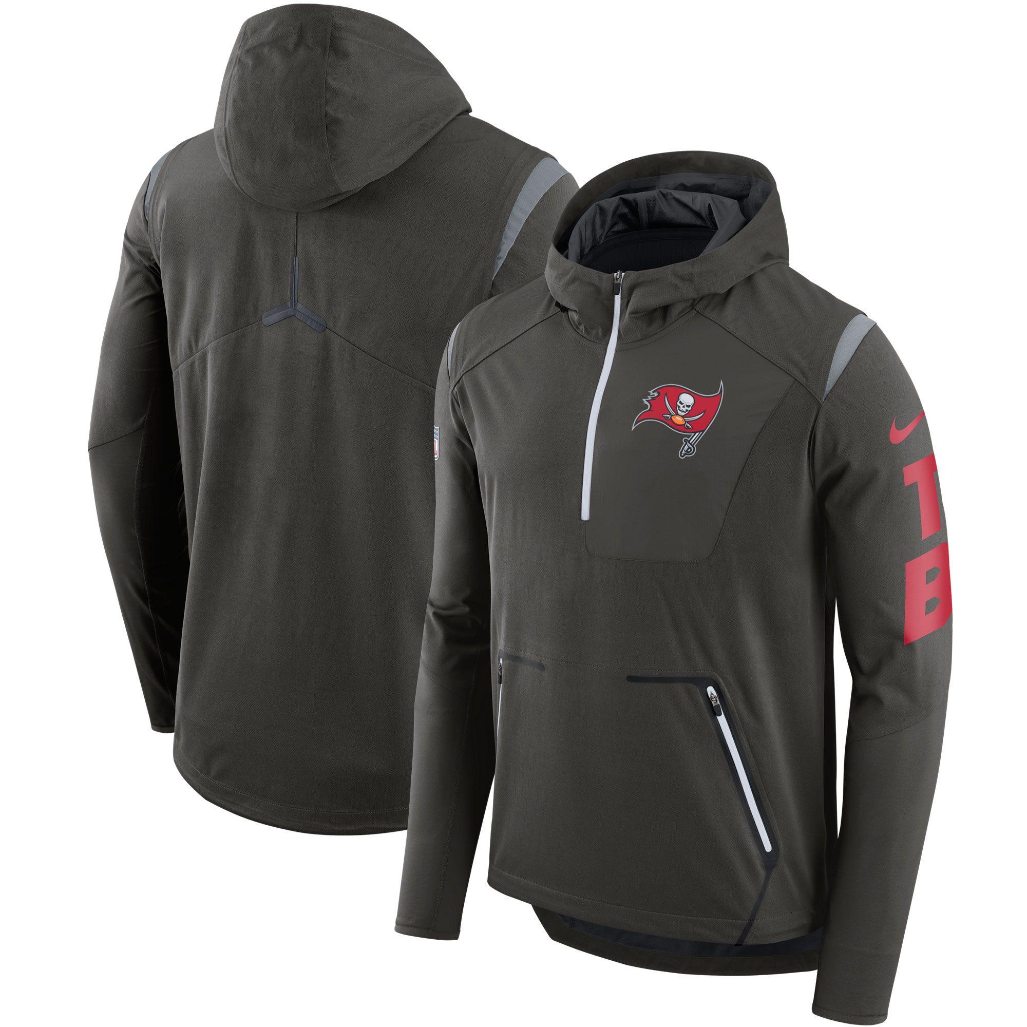 caf7a79b393e TCU Horned Frogs Nike Sideline Vapor Fly Rush Half-Zip Pullover Jacket -  Black