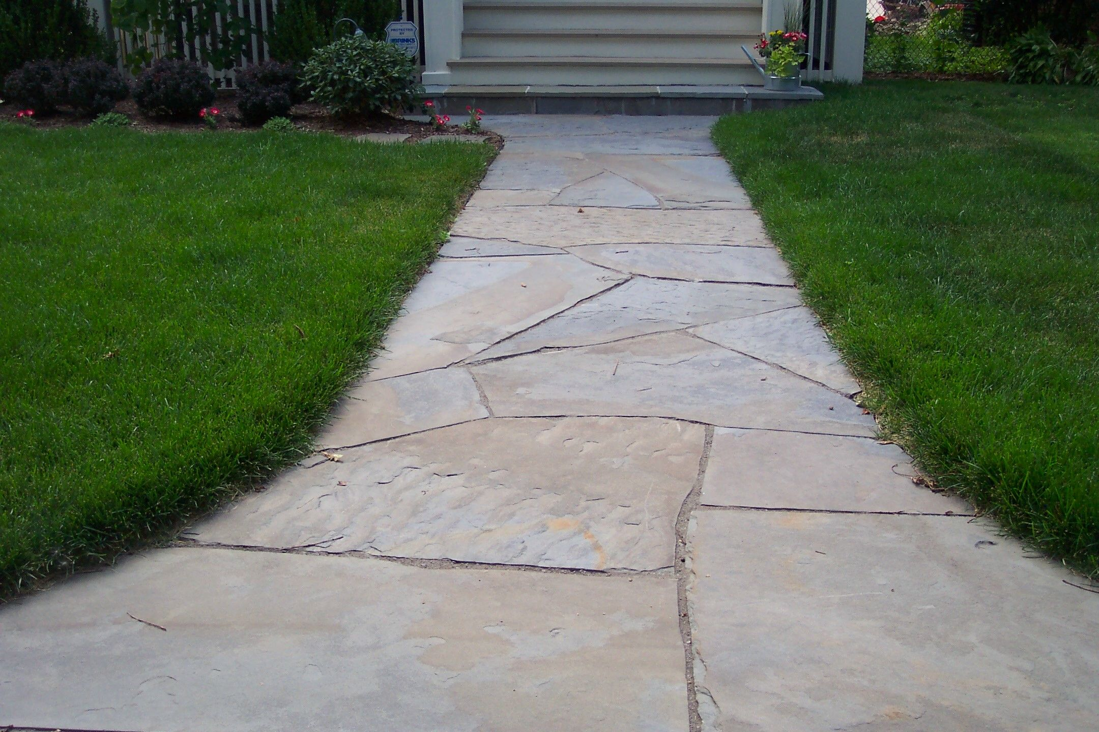 straight walkway walkways flagstone