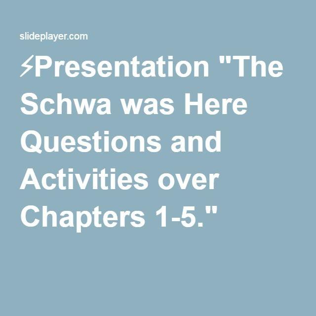 Presentation the schwa was here questions and activities over school fandeluxe Gallery