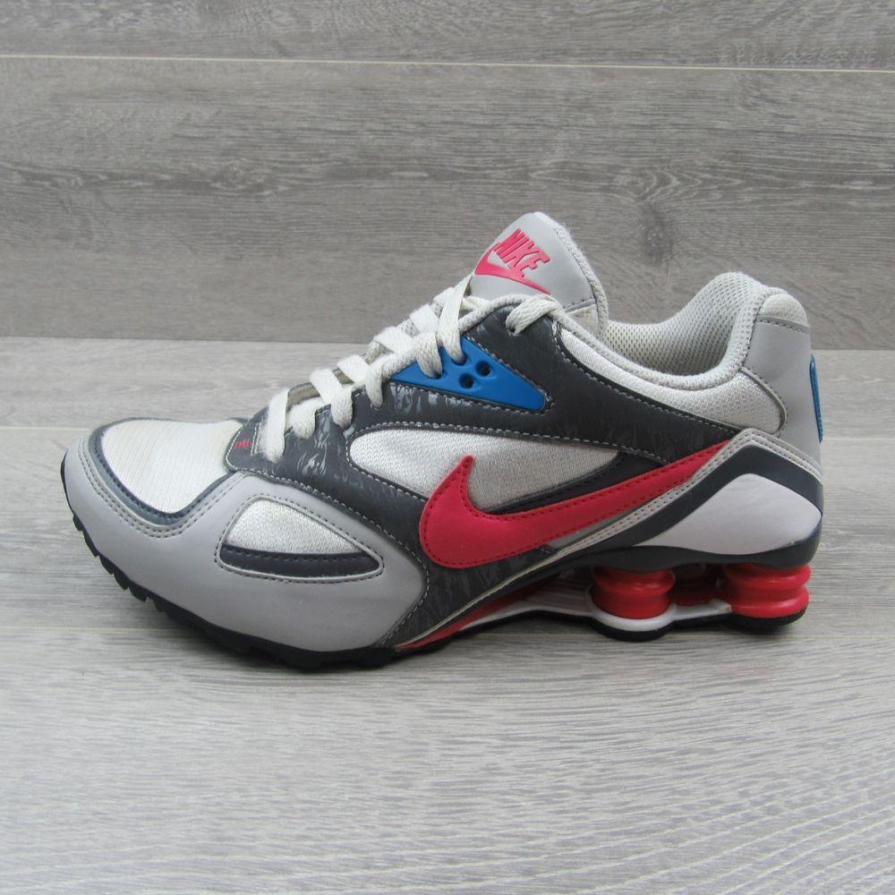9256e193901c Nike Shox Heritage Women s Running Shoes Size 8.5 Grey Pink Blue 386358 162   Nike  RunningShoes
