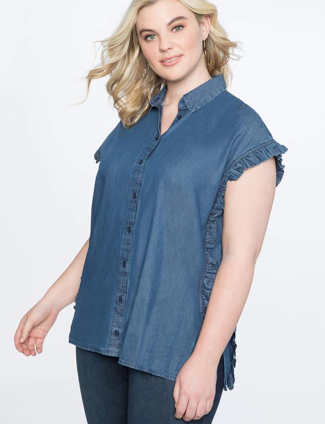 0baf52de9d7 Side Ruffle Shirt