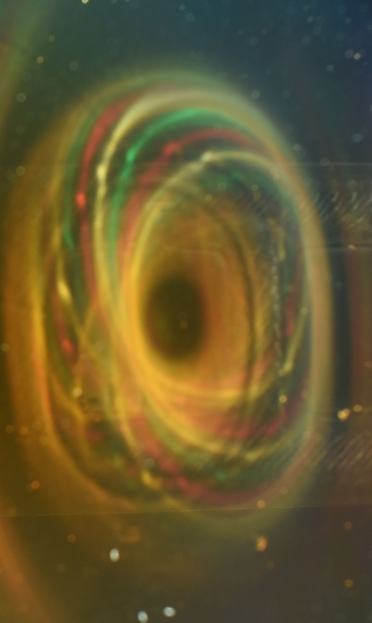 Magnetic Black Hole Image From One Magnetic Pole Of 5 Magnet