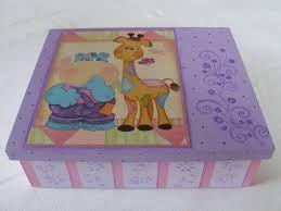 Resultado de imagem para caixa decorada infantil