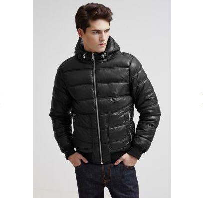 Veste d hiver noir homme