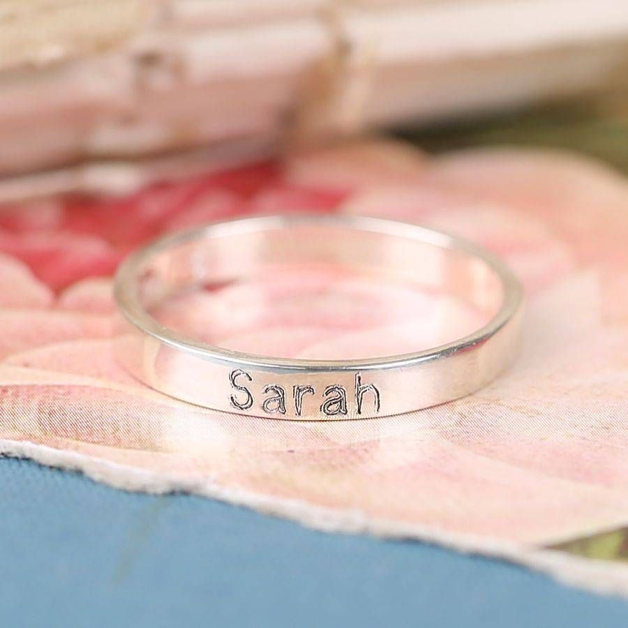 Personalised Engraved Sterling Silver Name Ring | Sterling silver ...