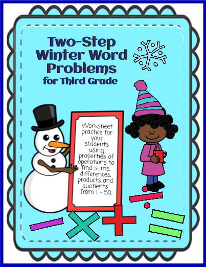 Two-Step Winter Word Problems - Multiplication/Division ...