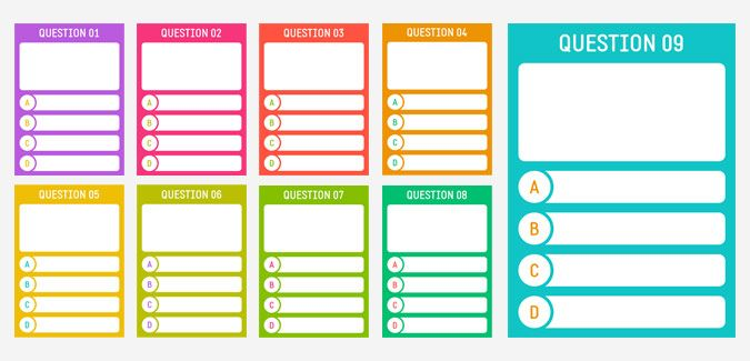Printable cards for creating a quiz Miscellaneous Pinterest - blank jeopardy template