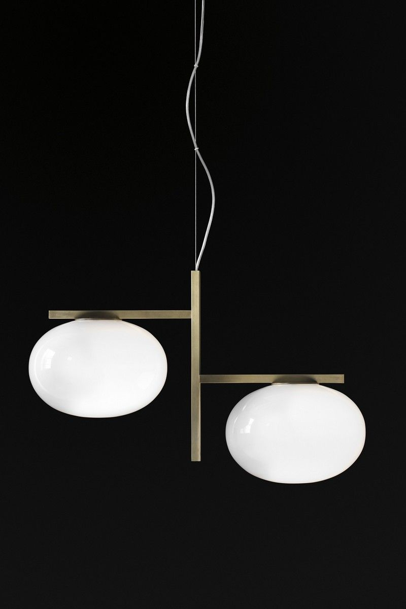 Alba Suspension Lamp by Mariana Pellegrino Soto ➤ Discover more luxury lifestyle news at www.covetedition.com @covetedition #covetedmagazine @covetedmagazine #luxurylifestyle #lighting #oluce @oluce