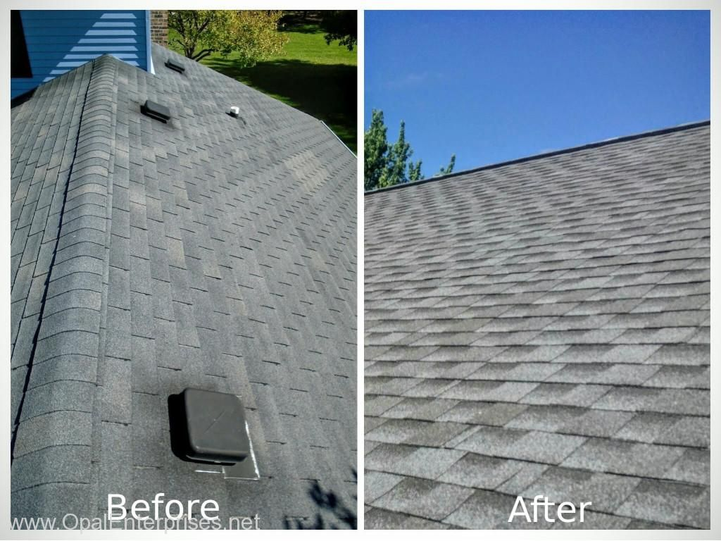 Best Before And After New Roof With Gaf Pewter Gray Shingles 640 x 480