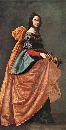 Zurbarán: St. Casilda, 1638-42, 1,84 x 0,90 m., Oil on canvas, Museo del Prado, Madrid.