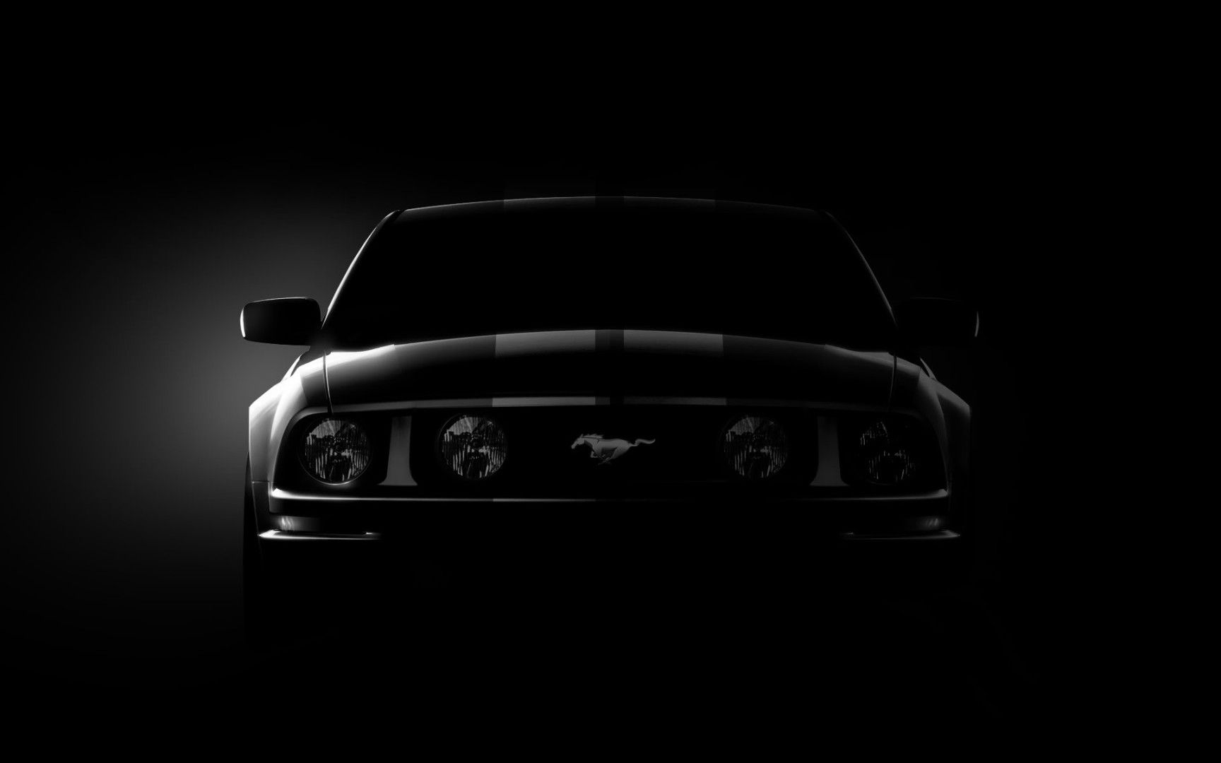 Hd Flat Black Muscle Car Wallpapers Ford Mustang Black Background Wallpaper Ford Mustang Gt
