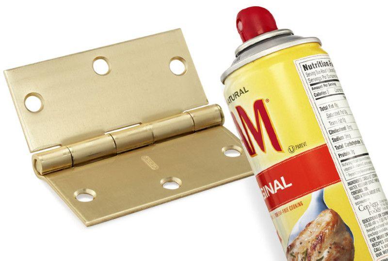 Cooking Spray For Door Hinges Household Items Squeaky Door