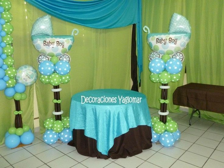 High Quality Baby Shower; Blue, Lime Green And Polka Dots.