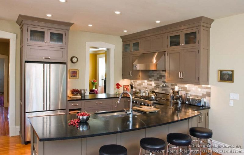 Kitchen Design With Peninsula Gorgeous Transitional Kitchen Design #02 Crownpoint Kitchendesign Decorating Design