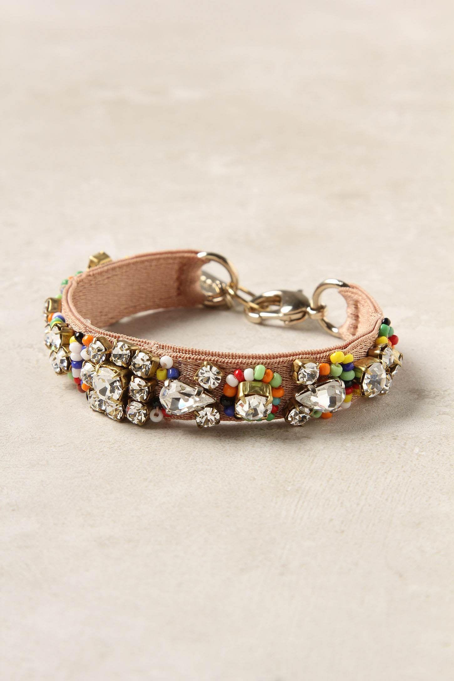 Crystal Fori Bracelet by Rada  $128 @ Anthropologie