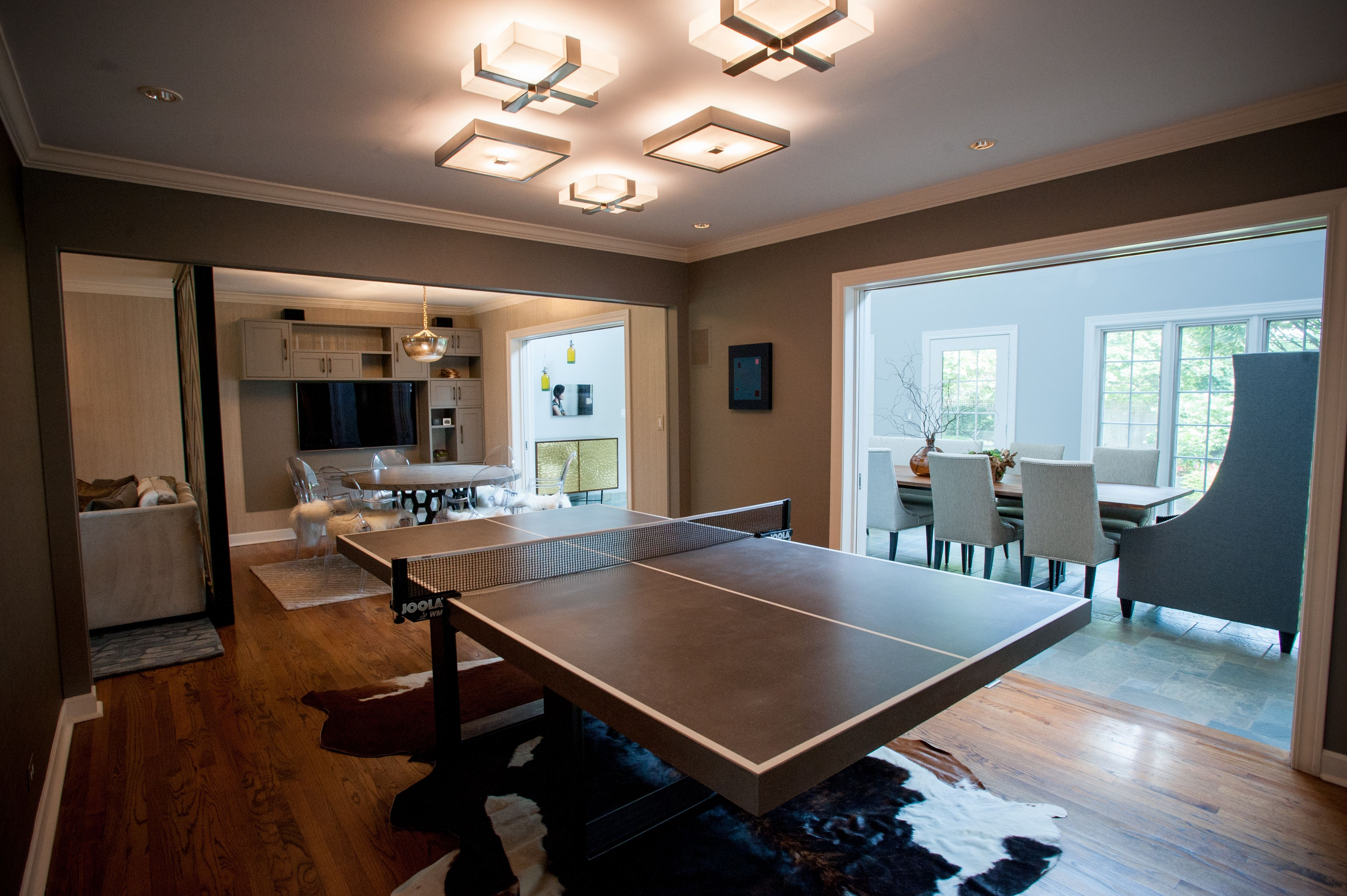 Alternate Use For Formal Dining Room  Kid's Entertainment Area Impressive Dining Room Ping Pong Table 2018