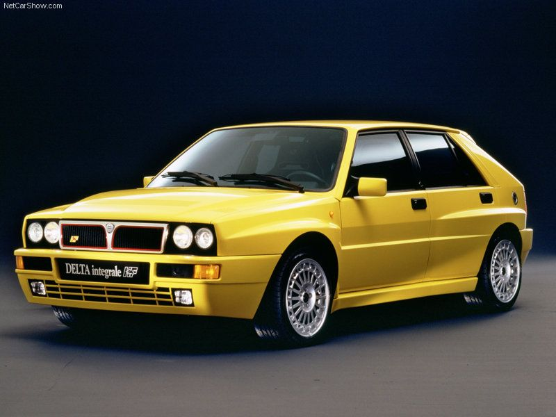 lancia delta integrale - the color is about the only thing i would