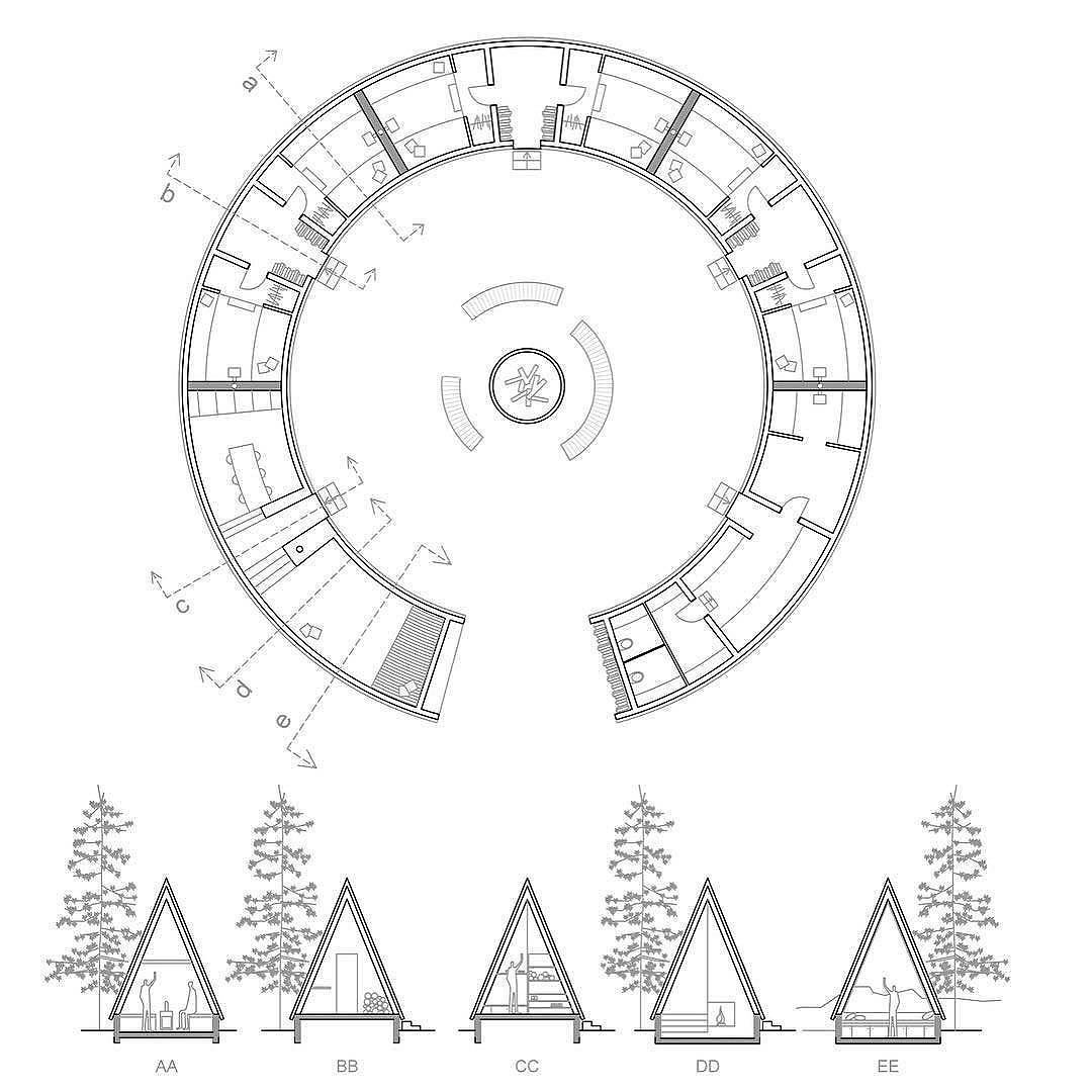 Next Top Architects Campfires Have The Power Of Connecting Us To Something Fundamentally Human They Make Us Circular Buildings Diagram Design Top Architects