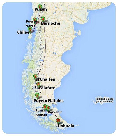From Pucon To Ushuaia Our Route Through Patagonia Globetrottergirls Ushuaia Patagonia Travel Argentina Travel