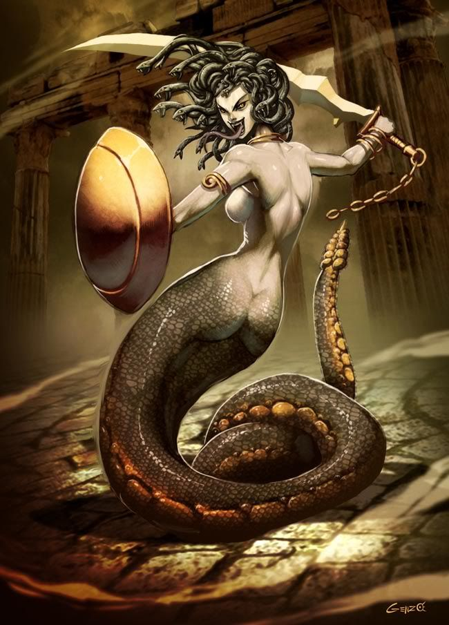 La Medusa Mitologia Griega Medusa Artwork Greek Mythological Creatures Medusa Gorgon