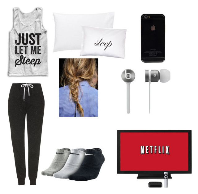 """""""GOING TO SLEEP"""" by harrybabe219 ❤ liked on Polyvore featuring beauty, Topshop, Jigsaw, Kiki de Montparnasse, NIKE and Beats by Dr. Dre"""