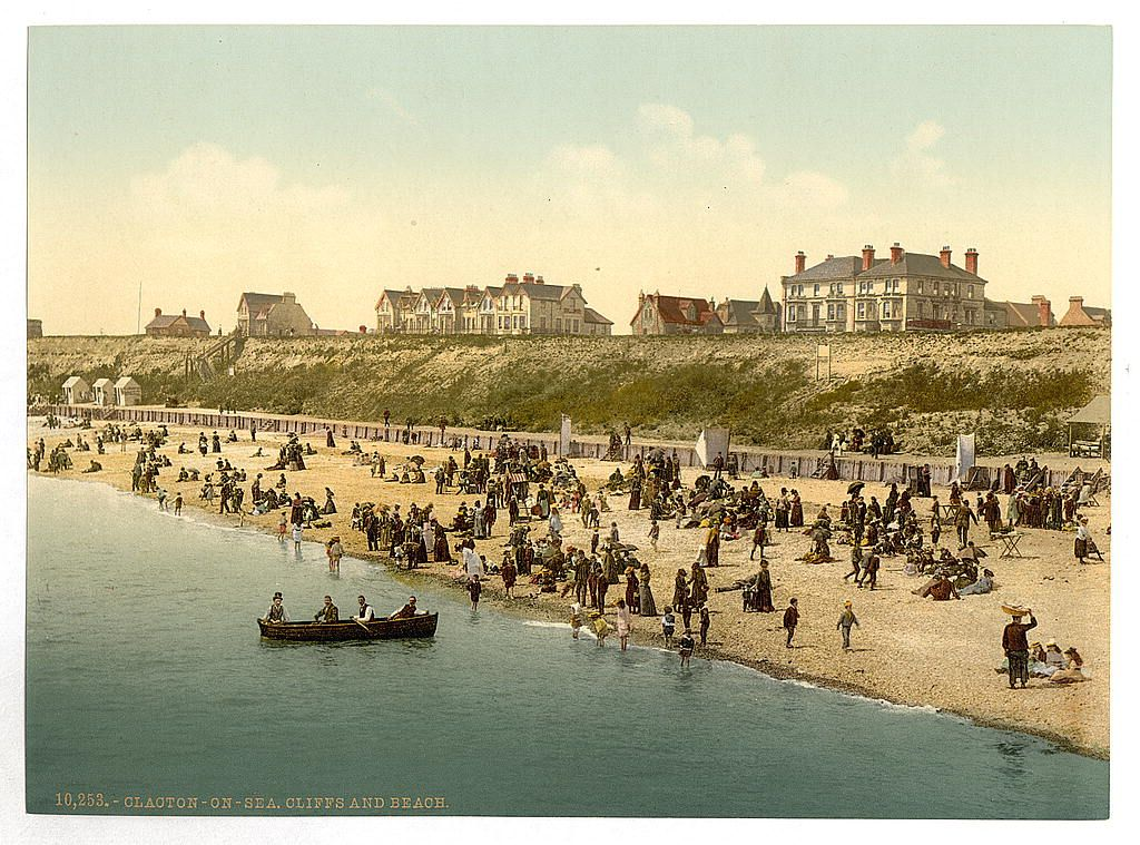 Vintage Edwardian Seaside Photochrome Photo Reprint Blackpool 6 A4