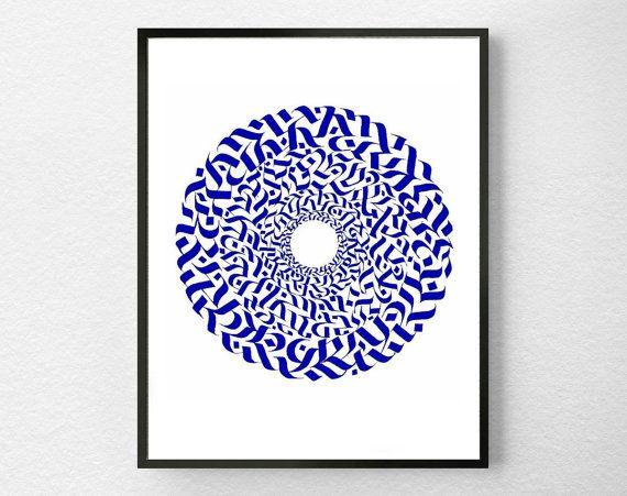 Magic circle in blue original calligraphy by magikcircles
