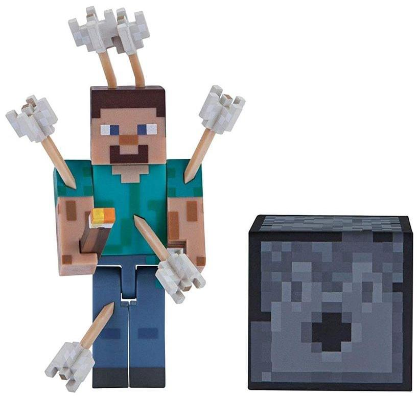 Minecraft Series 1 Core Action Figure Pack Steve With