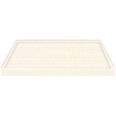 Transolid 60 inch x 30 inch Solid Surface Left-Hand Shower Base, Available in Various Colors, Brown