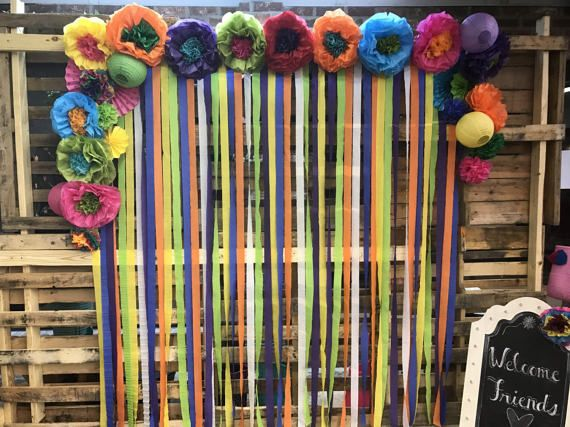 Mexican tissue paper flowers photo wall wedding fiesta decorations mexican tissue paper flowers photo wall wedding fiesta mightylinksfo