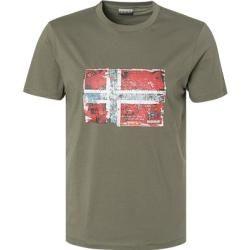 Napapijri Herren Tshirt, Baumwolle, khaki grün Napapijri #warmclothes