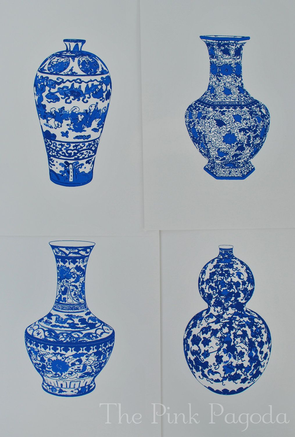 Blue And White Chinese Vase 3 13x19 Giclee 45 00 Via Etsy Chinese Vase Blue And White Blue And White China Blue and white vases cheap
