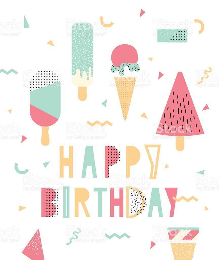 Bright illustration for birthday royalty-free stock vector art