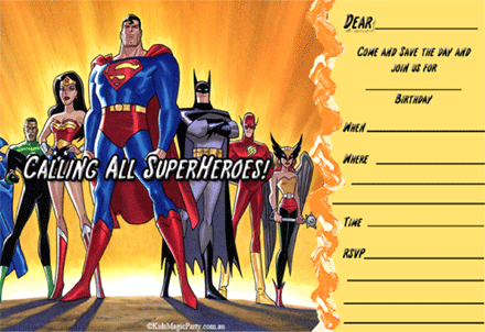 Free Superheroes Birthday Printable