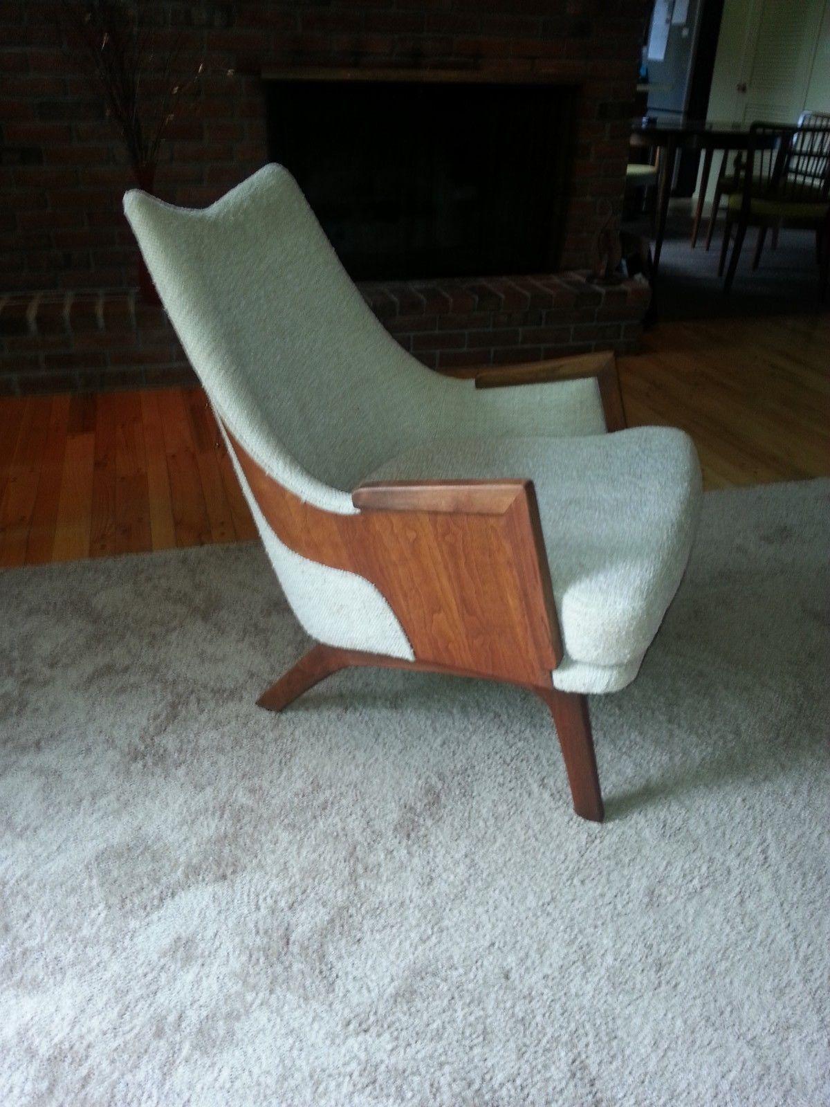 Mid Century Modern Hans Wegner Kroehler Bentwood Wing Chair Walnut