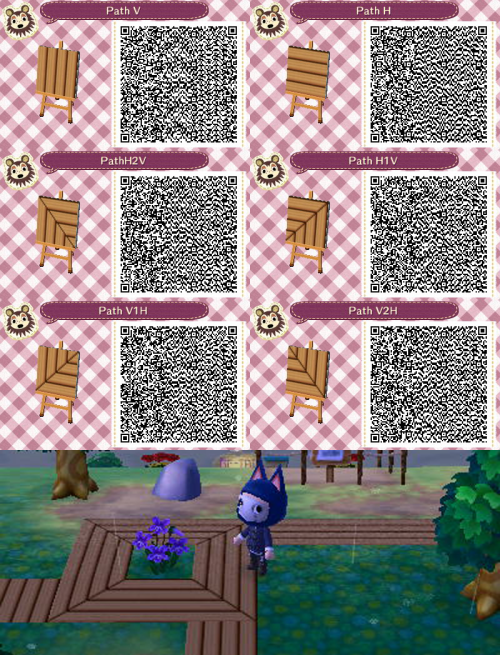 Wooden Path Qr Codes Animal Crossing Qr Animal Crossing Qr