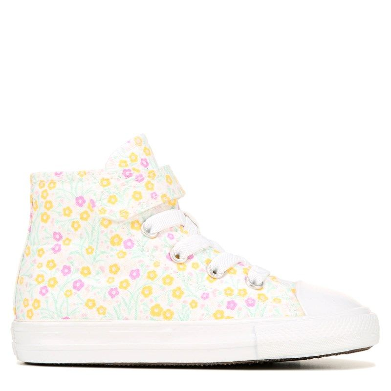 Converse Kids' Chuck Taylor All Star 1V High Top Sneaker Toddler Shoes (Yellow/Pink)