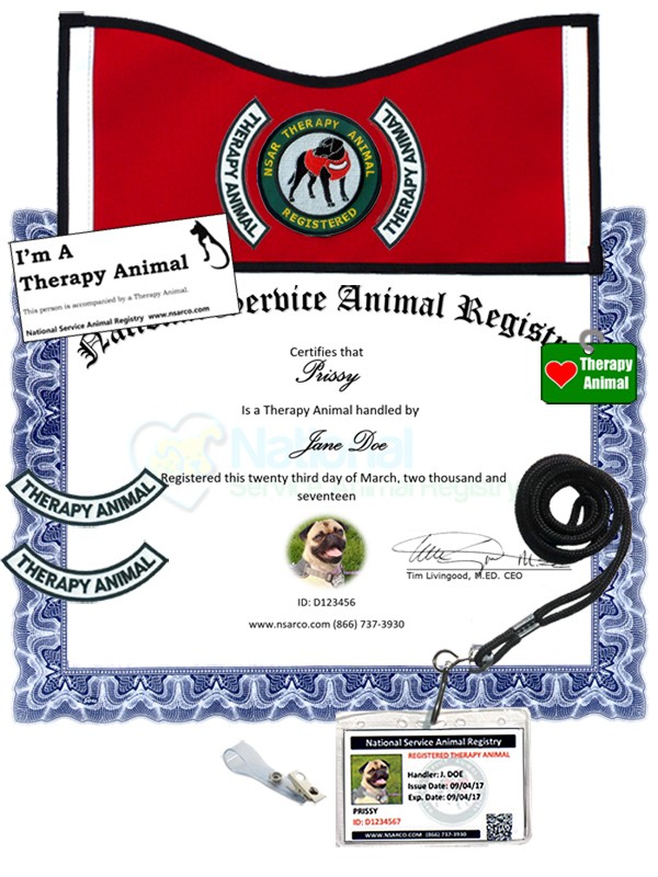 Low Cost Therapy Dog Registration Money Back Guarantee