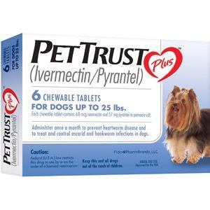 Pettrust Plus Ivermectin Pyrantel 6 Month Supply 13 71