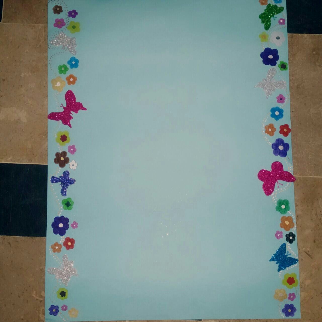 How To Decorate Girly Bedroom: How To Decorate Chart Paper For School Project