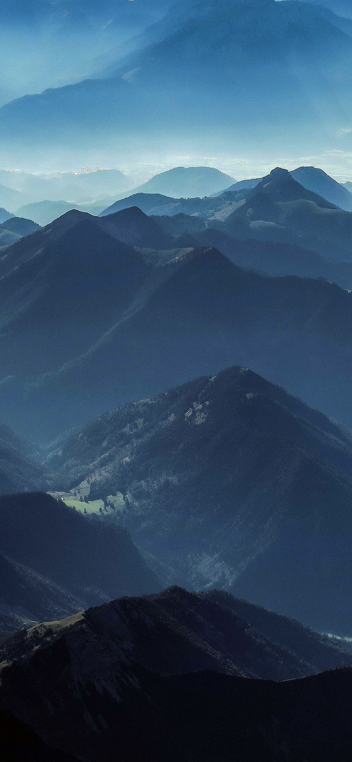 Blue Mountain Wallpaper Hd | 3D Wallpapers #darkiphonewallpaper