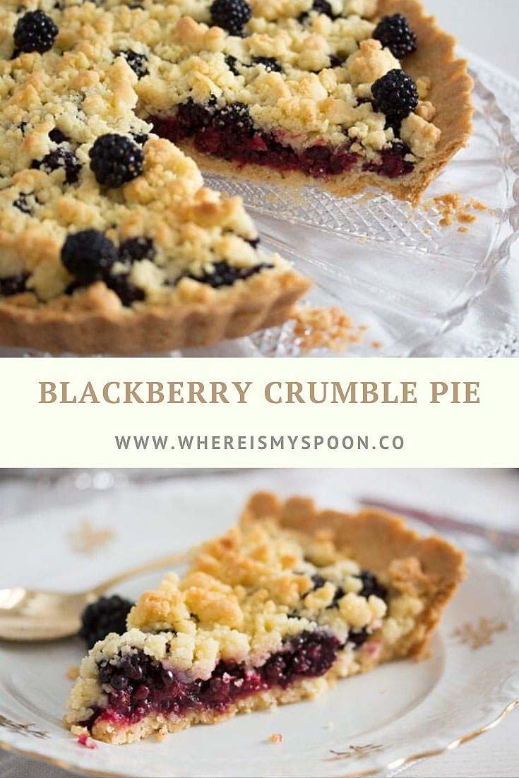 Berry Crumble Pie - with Blackberries