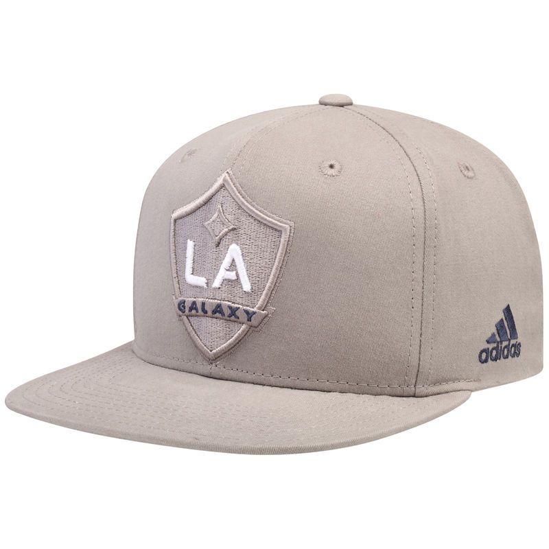 new product 2e16d 9b2b3 LA Galaxy adidas Tonal Adjustable Snapback Hat - Gray
