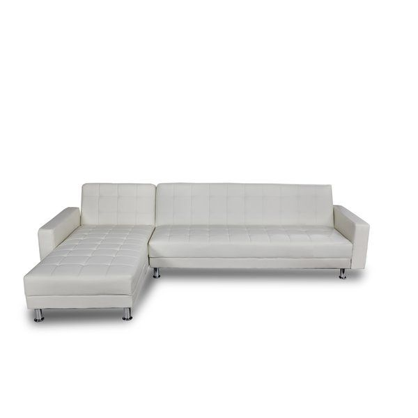 A modern simple design allowing you to convert a corner sofa into