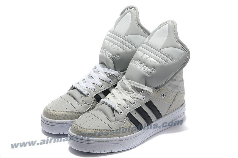 Adidas X Jeremy Scott Big Tongue Shoes Khaki Black 2013